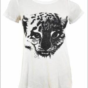 RARE WILDFOX Tiger Sparkle T shirt size S